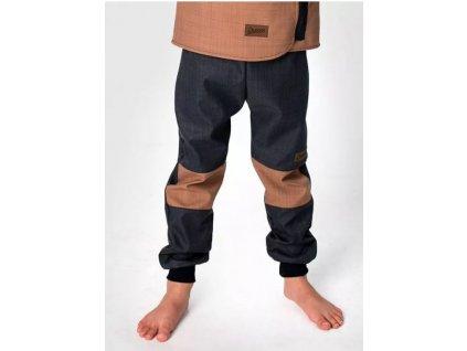Jaro/podzim softshellové kalhoty BLACK-COFFEE