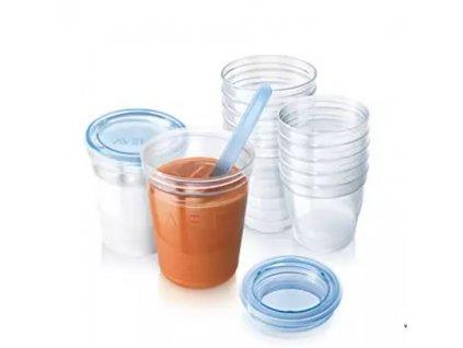 Avent pohárky na uskladnění - 180ml/5ks