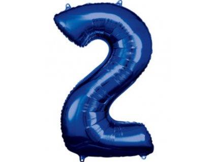 86 cm balónek číslice 2