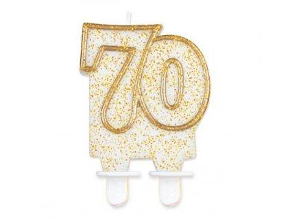svíčka 70 zlatá
