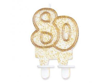 svíčka 80 zlatá