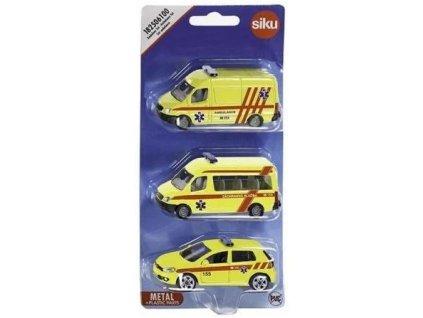 SIKU - set ambulance sada 3 aut