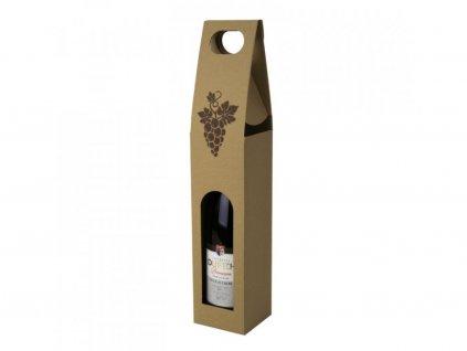1868 kartonovy box na 1 lahev prirodni s obrazkem t0111
