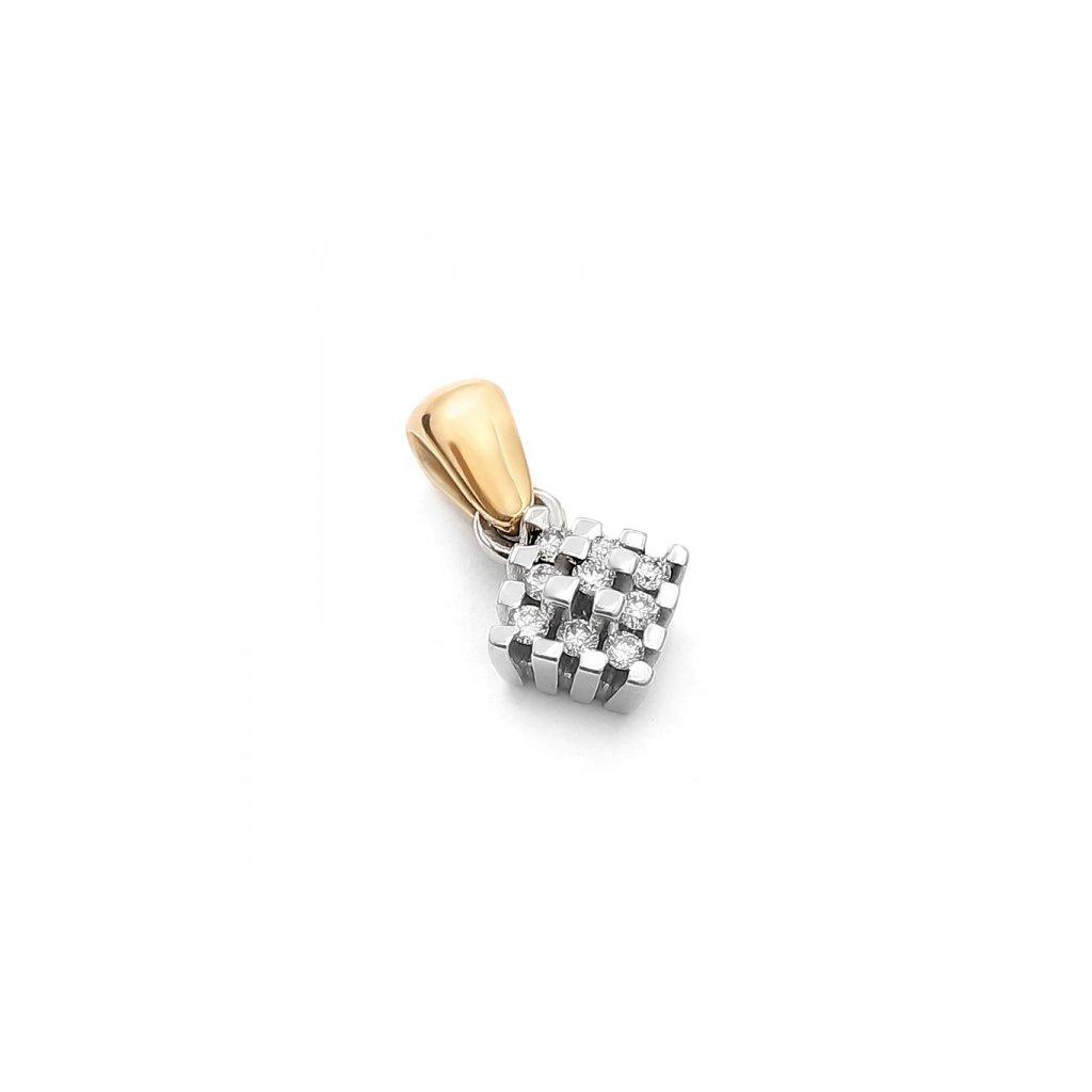 Zlatý prívesok Oliver s diamantami 0,12 ct