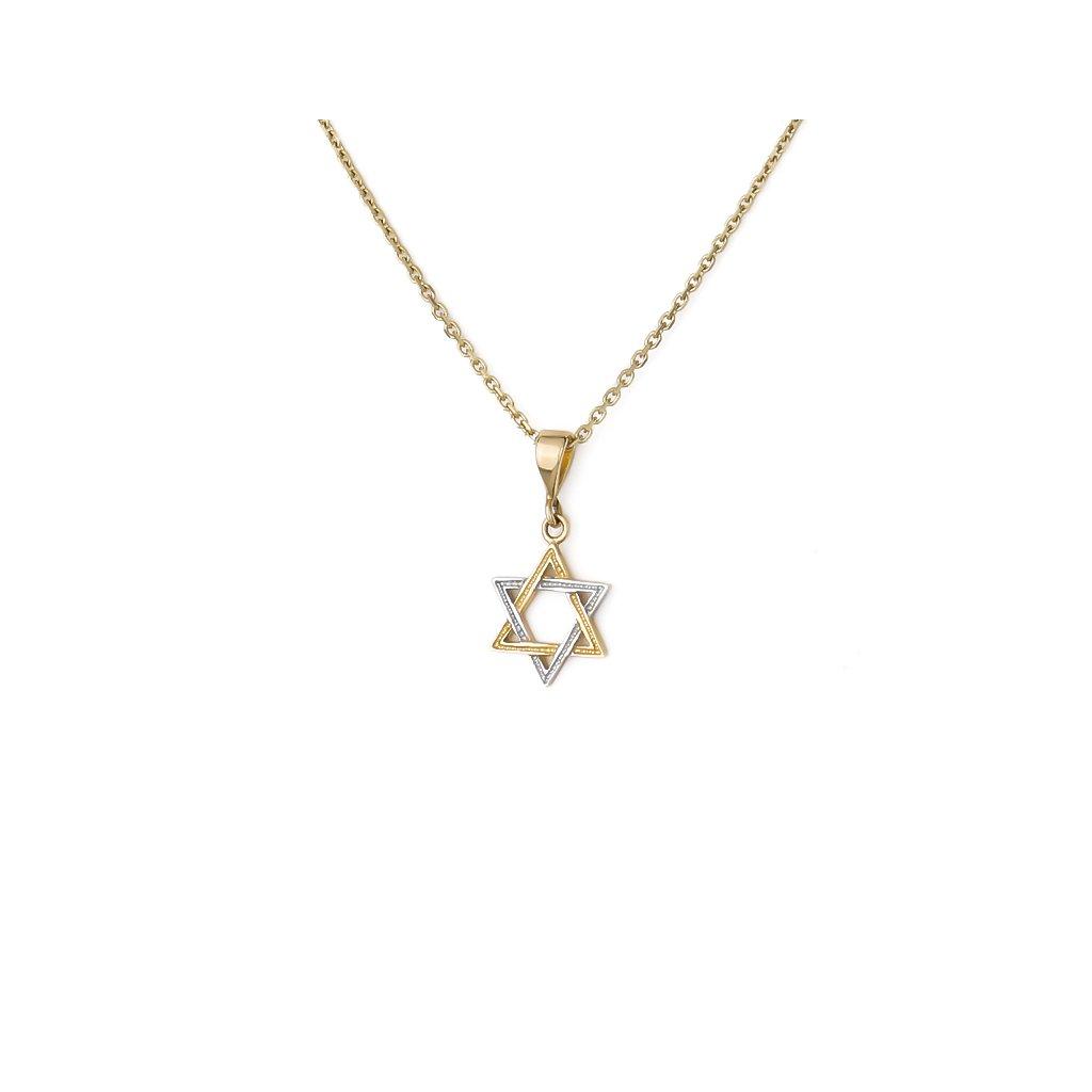 Zlatý prívesok Dávidova hviezda 6460