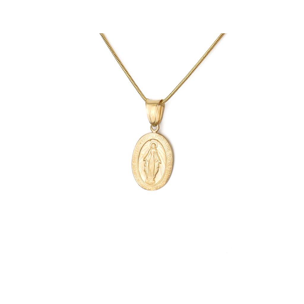 Zlatý medailón Panna Mária 8510