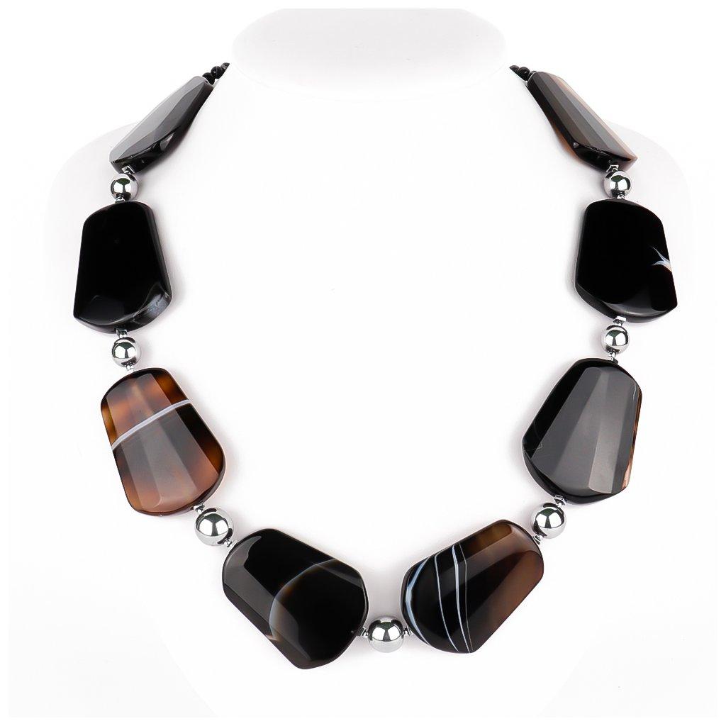 Achátový náhrdelník 11064