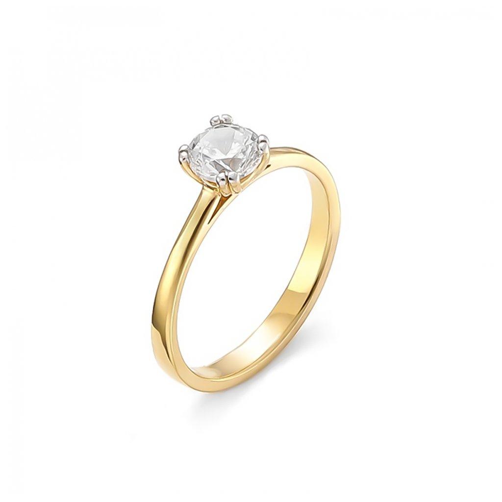 Zásnubný prsteň s briliantom 0,50 ct