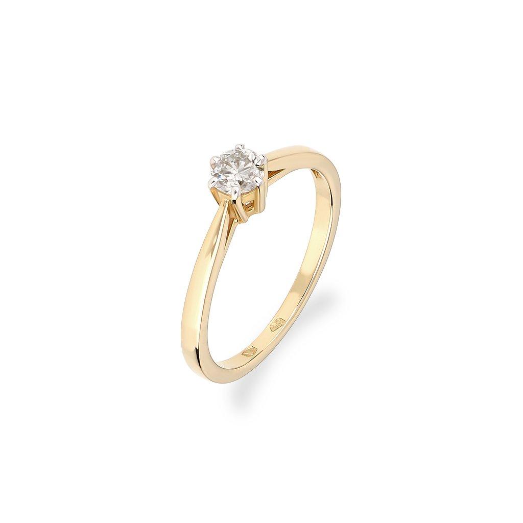 Zásnubný prsteň s briliantom 0,28 ct