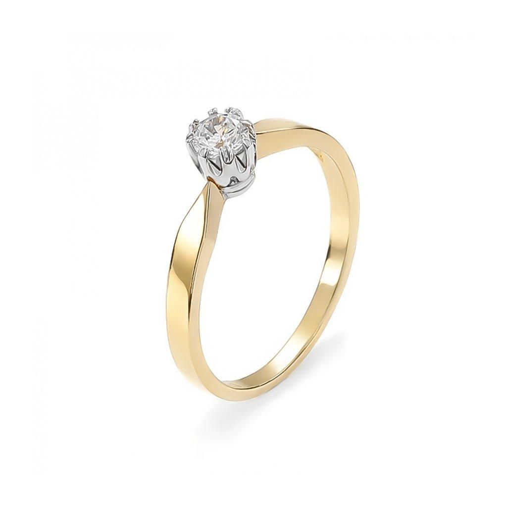 Zásnubný prsteň s briliantom 0,21 ct
