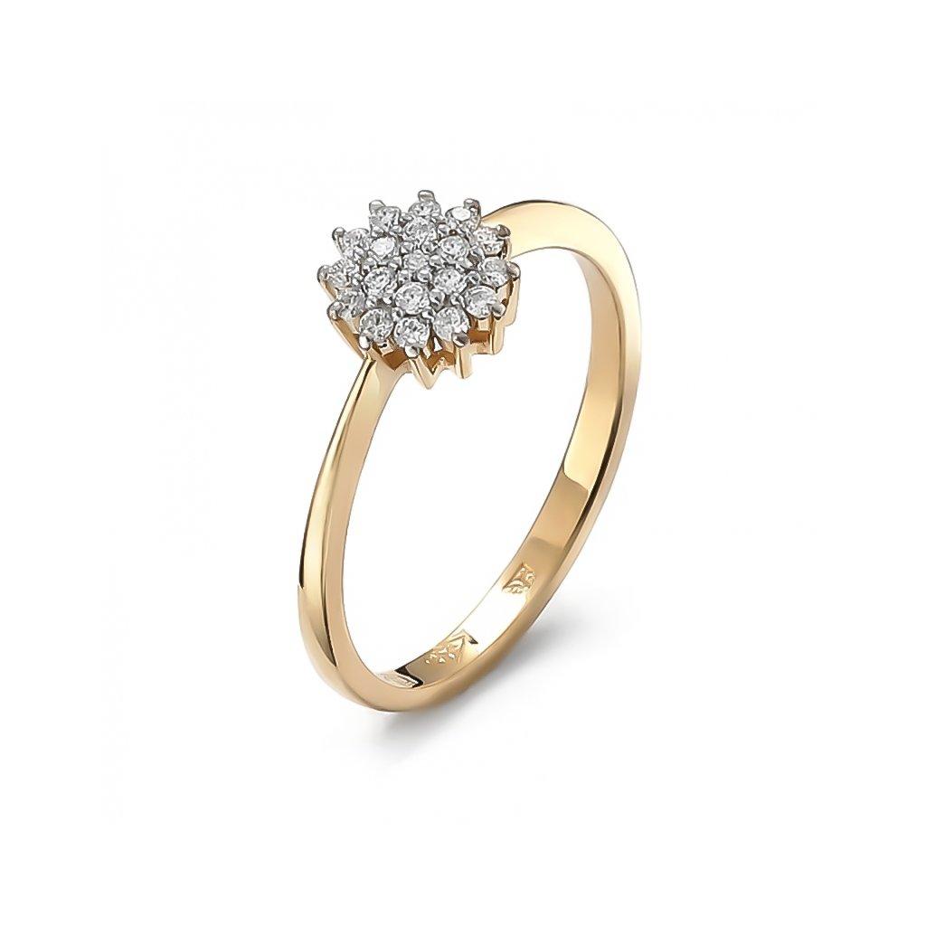 Zásnubný prsteň s briliantami 0,18 ct
