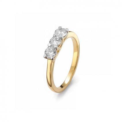 Zlatý prsteň s diamantami 0,66 ct
