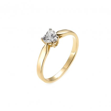 Zásnubný prsteň s bielym topásom 0,50 ct