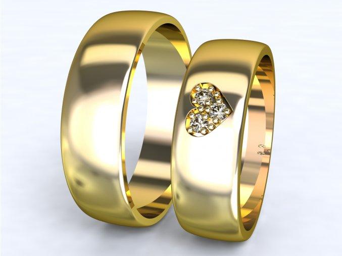 Au585 snubní prsteny