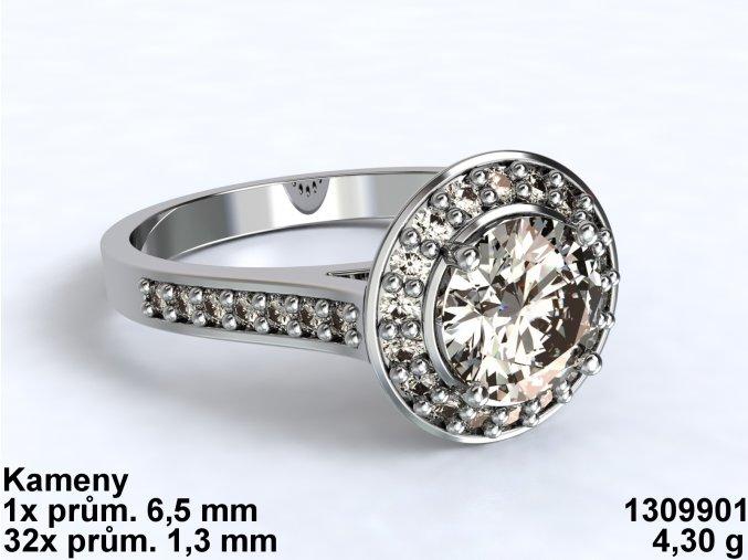 Au 585/1000 Zlatý prsten