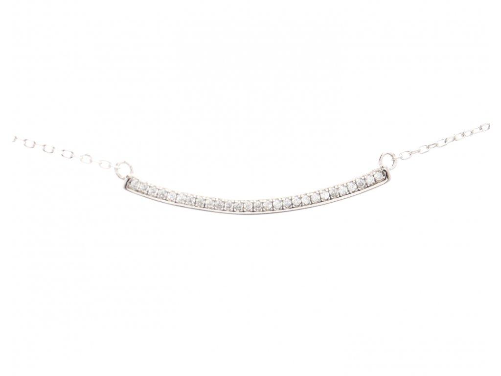 Stříbrný náhrdelník s kamínky F