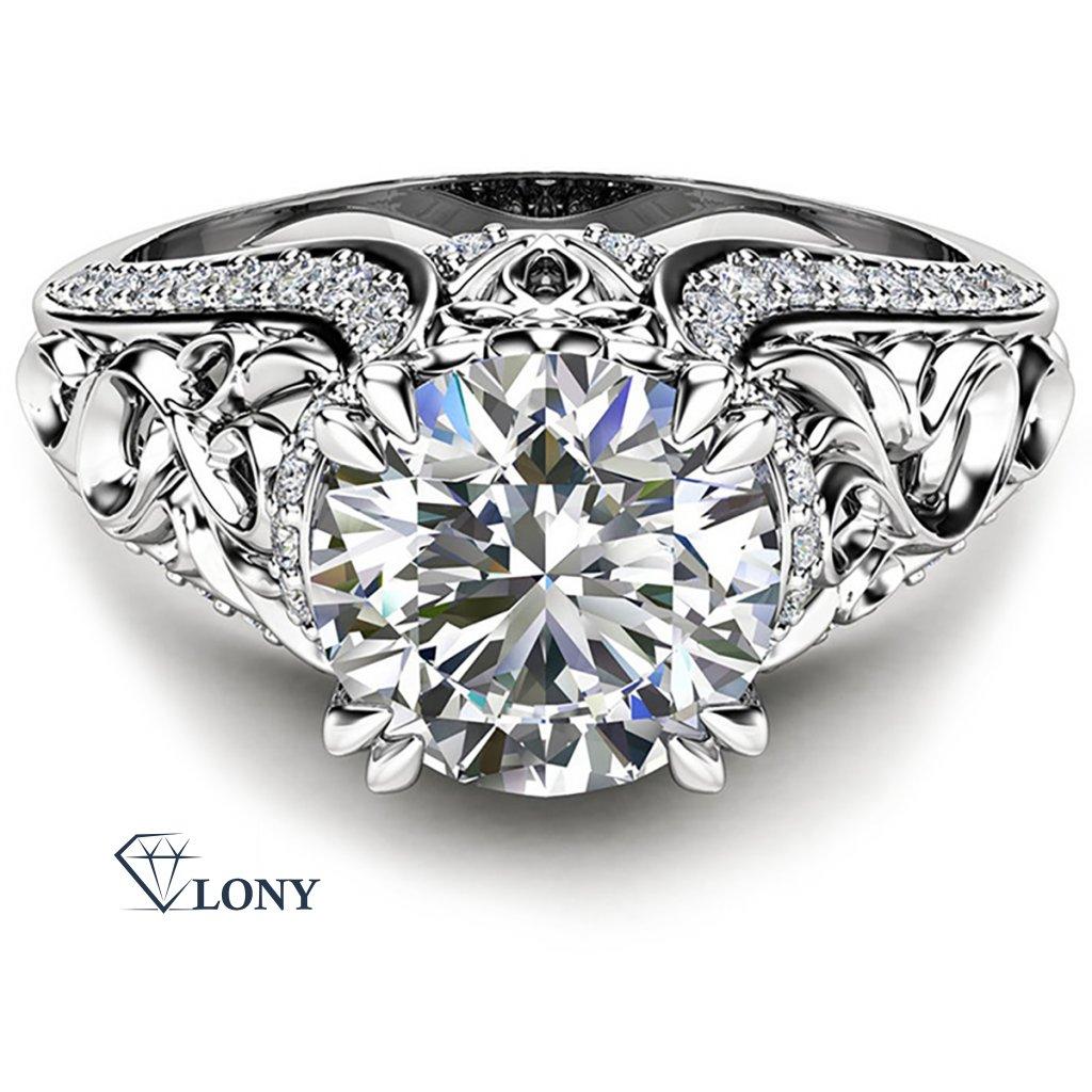 prsten Enchanting Silvana, bílé zlato a brilianty