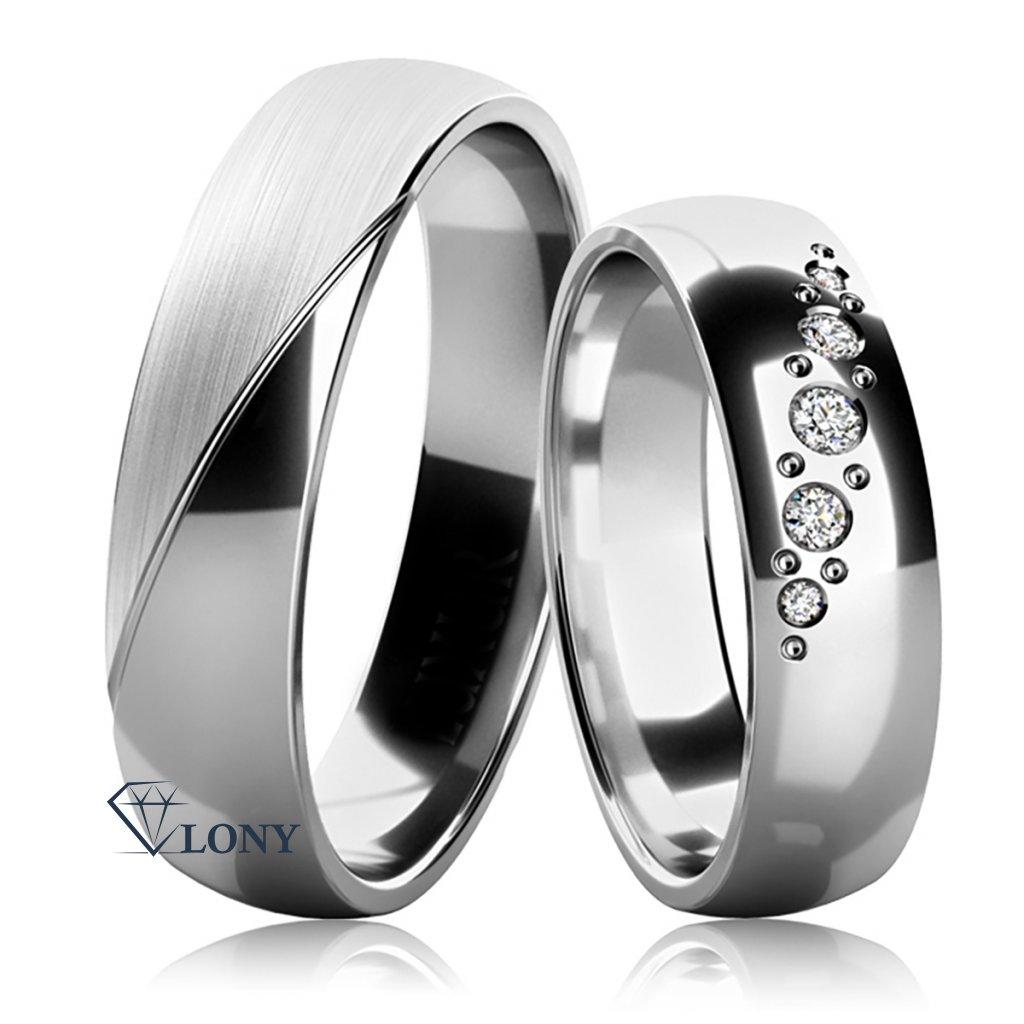 Snubní prsteny Balera ze stříbra se zirkony