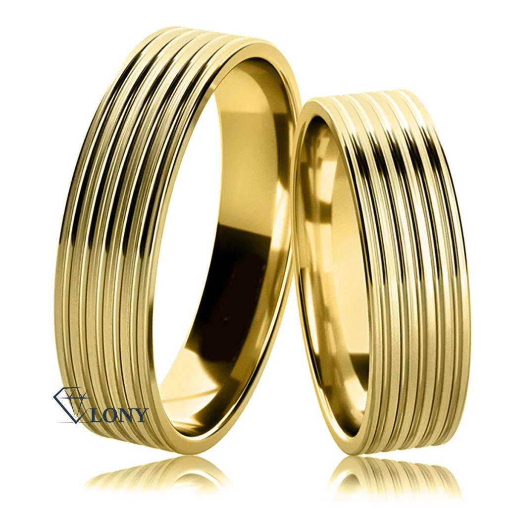 Snubní prsteny Tosia ze žlutého zlata