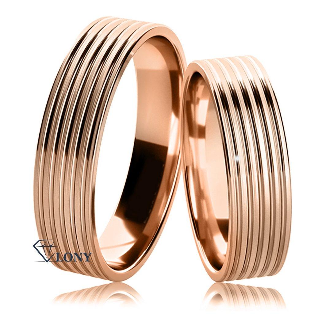 Snubní prsteny Tosia z růžového zlata