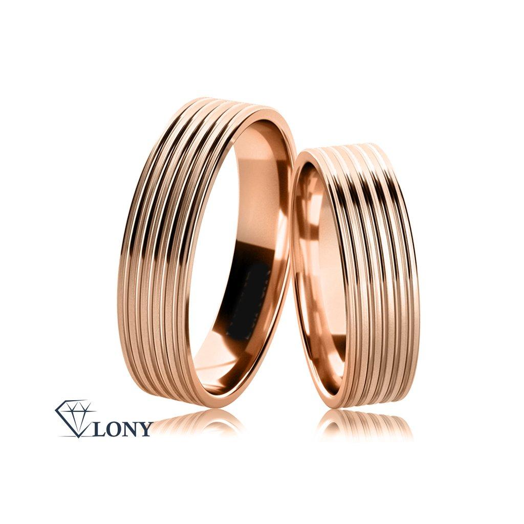 Snubní prsteny Tosia z bílého zlata
