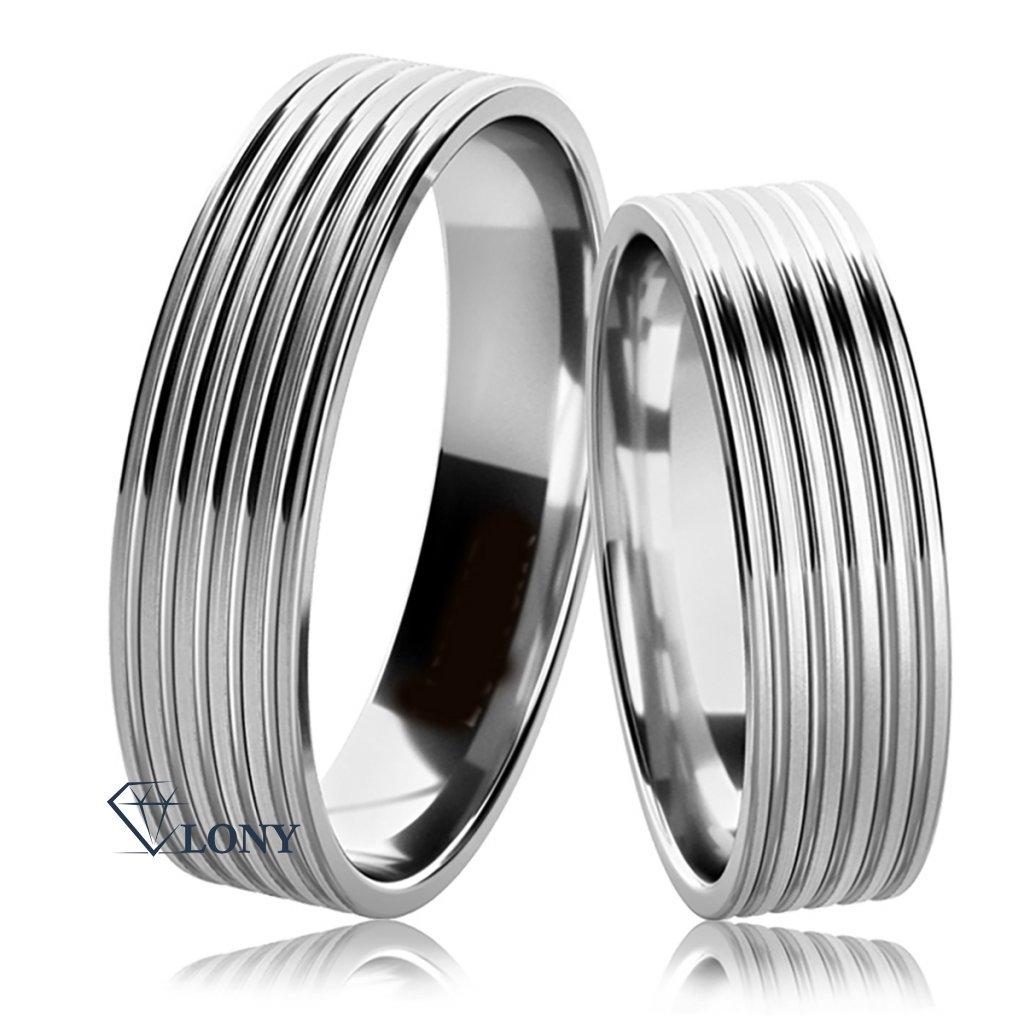 Stříbrný snubní prsteny Tosia