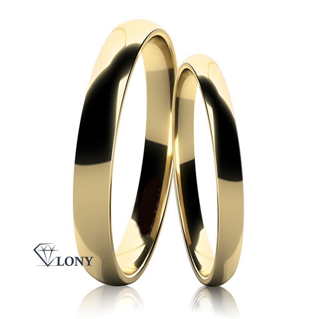 Snubní prsteny Jovia ze žlutého zlata