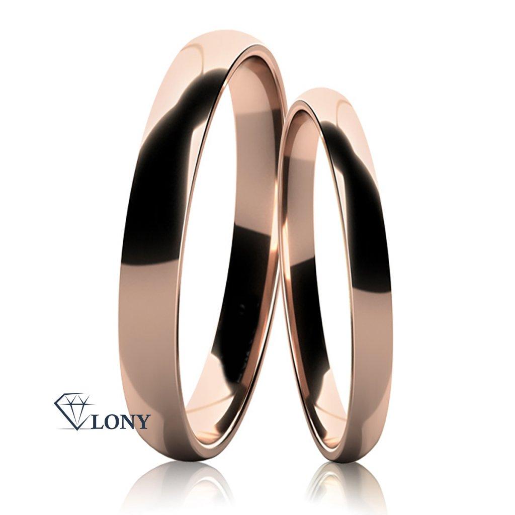 Snubní prsteny Snubní prsteny Jovia z bílého zlata z růžového zlata