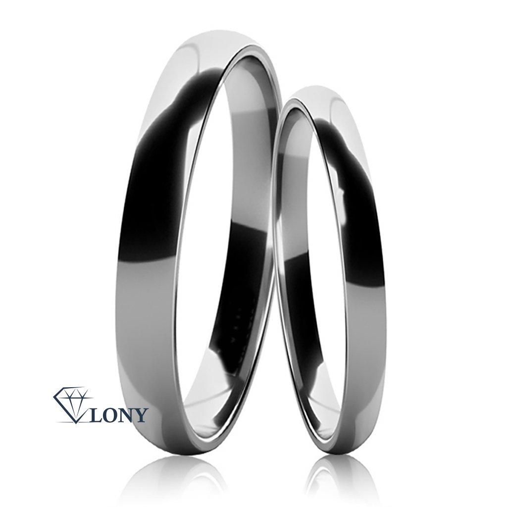 Stříbrné snubní prsteny Jovia