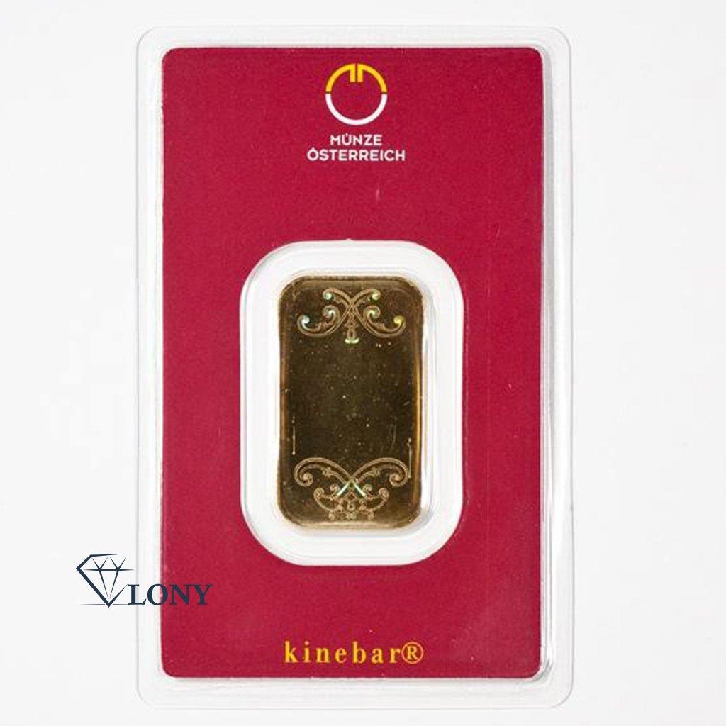 897 zlaty investicni slitek 10g lic kinebar