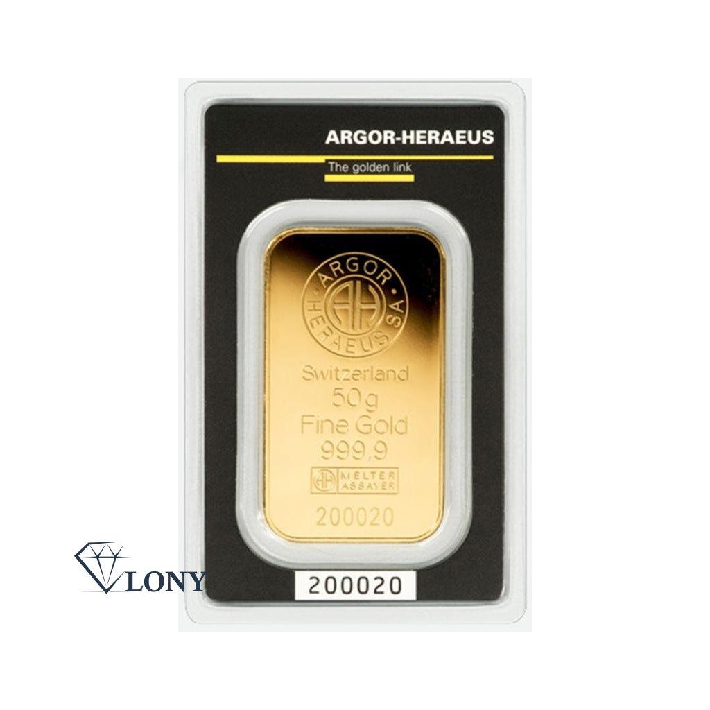 Zlatý slitek 50 gramů