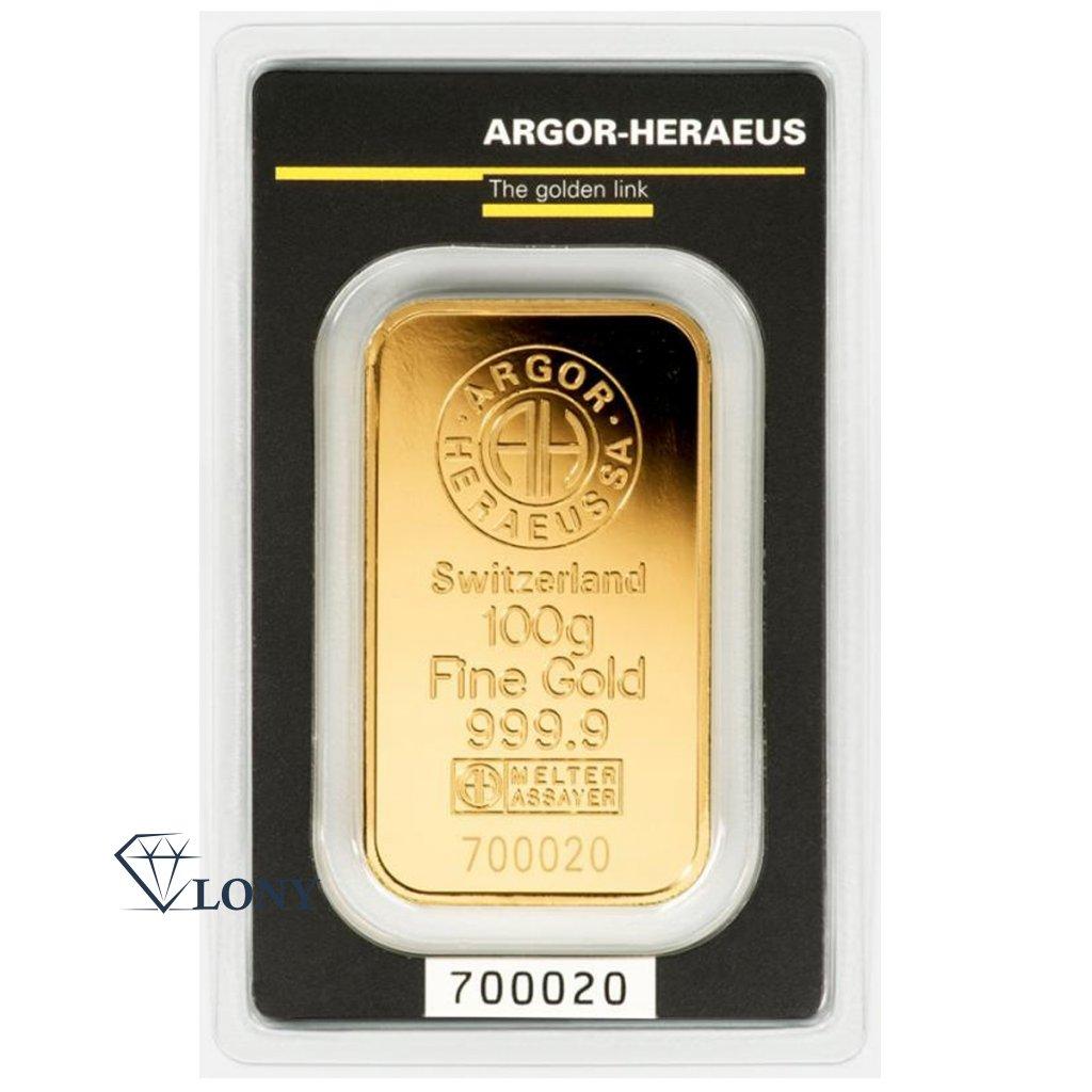 1602 100g zlaty slitek argor heraeus sa
