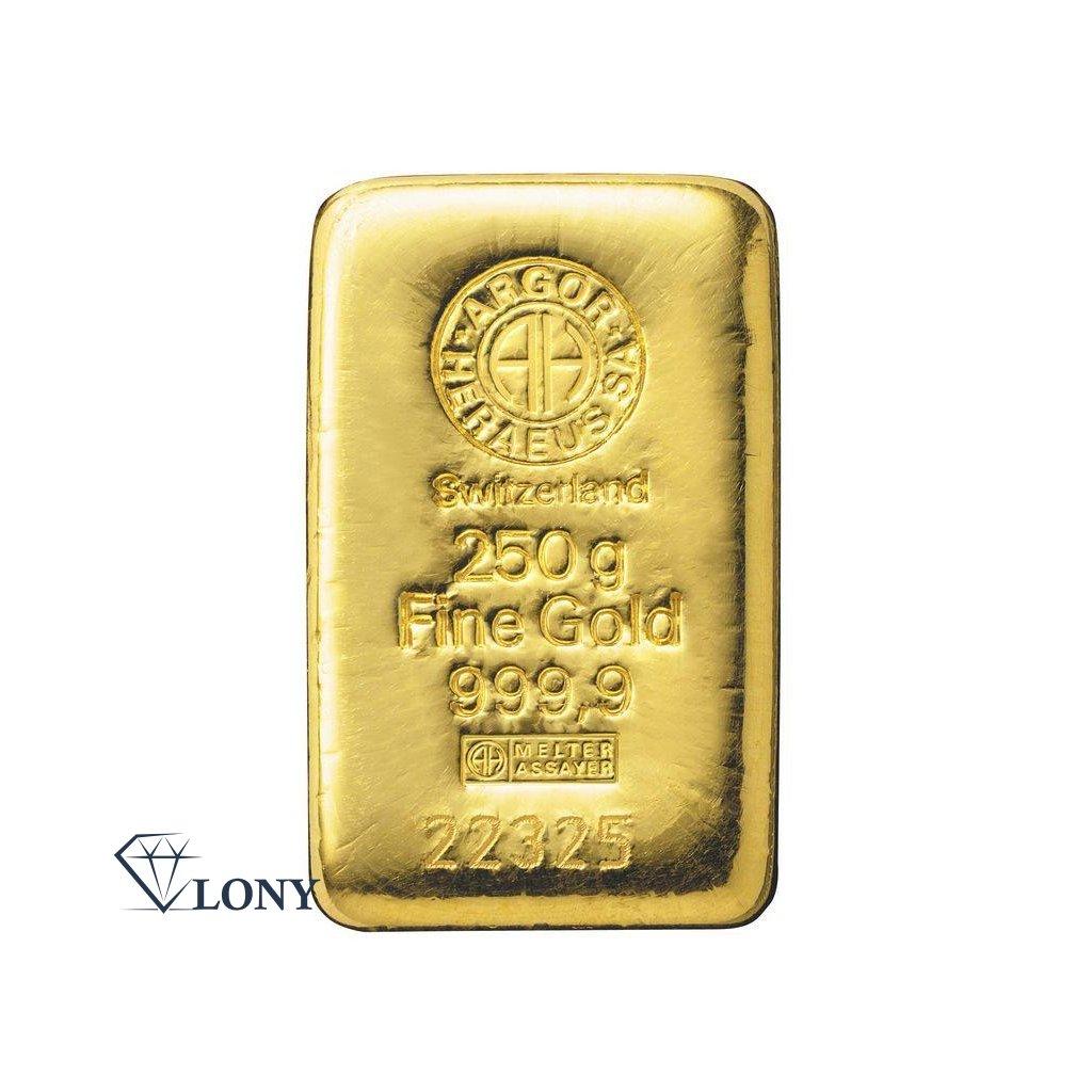 Zlatý slitek 250 gramů