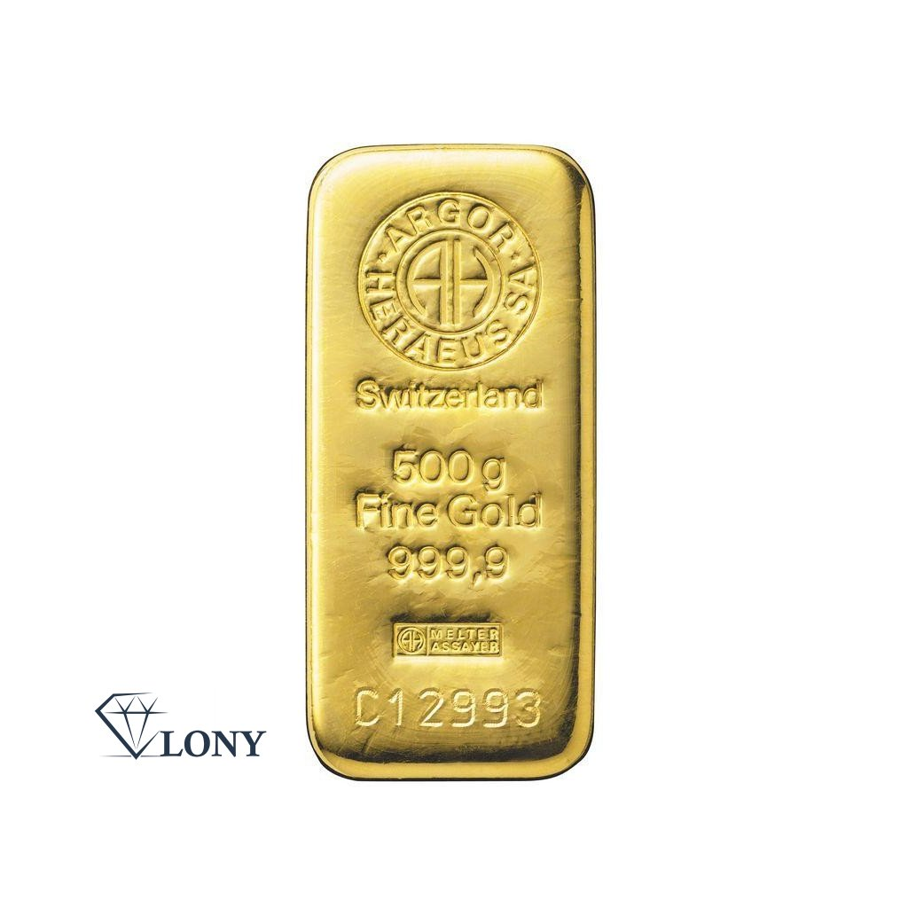 Zlatý slitek 500 gramů