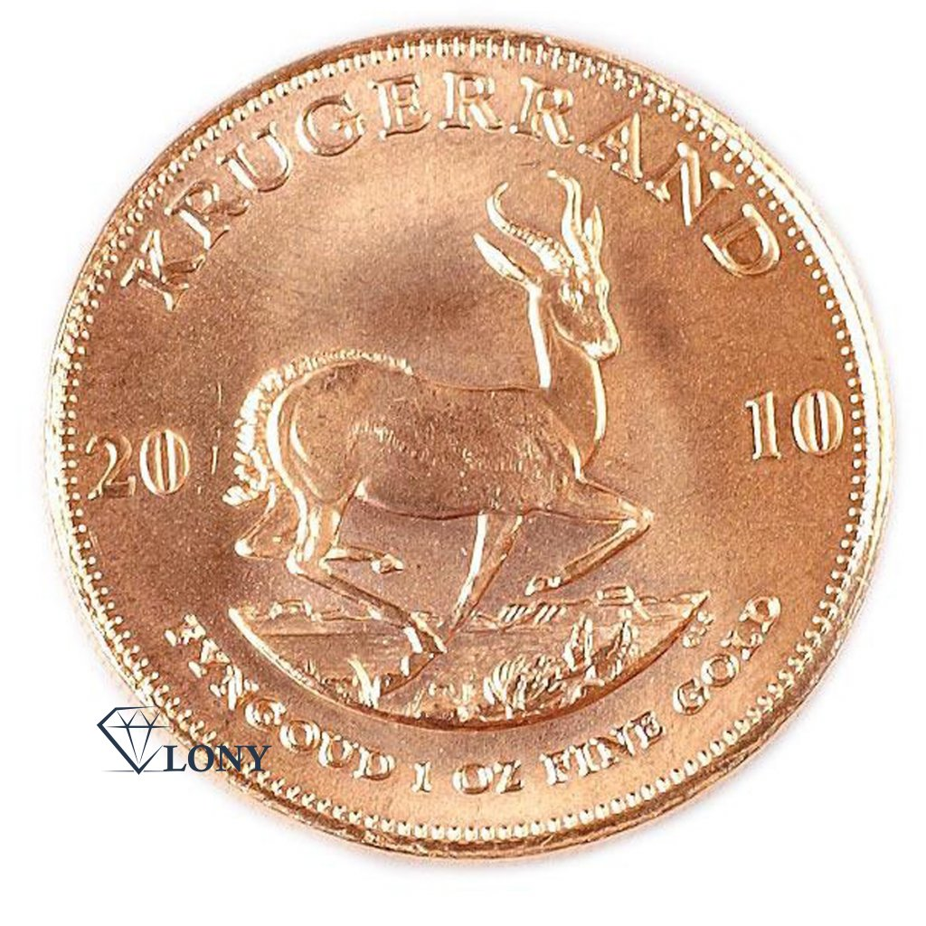 572 1 oz krugerrand gold bullion zlato mince springbok