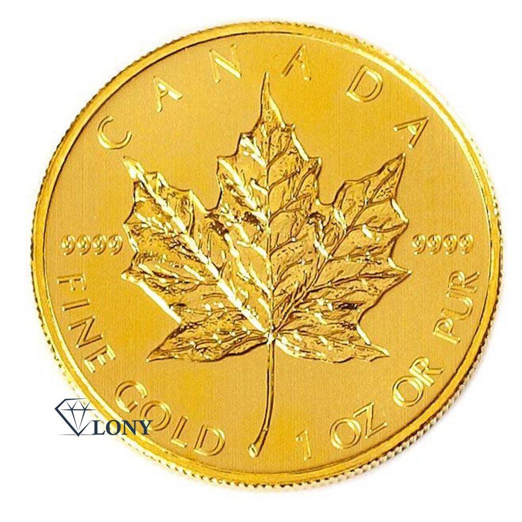 554 1 oz maple leaf gold bullion zlato mince rub