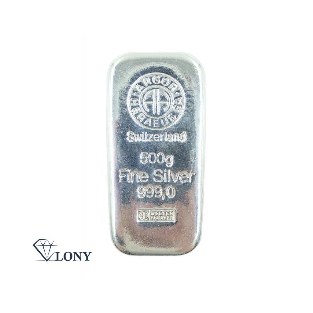 Stříbrný slitek 500 gramů