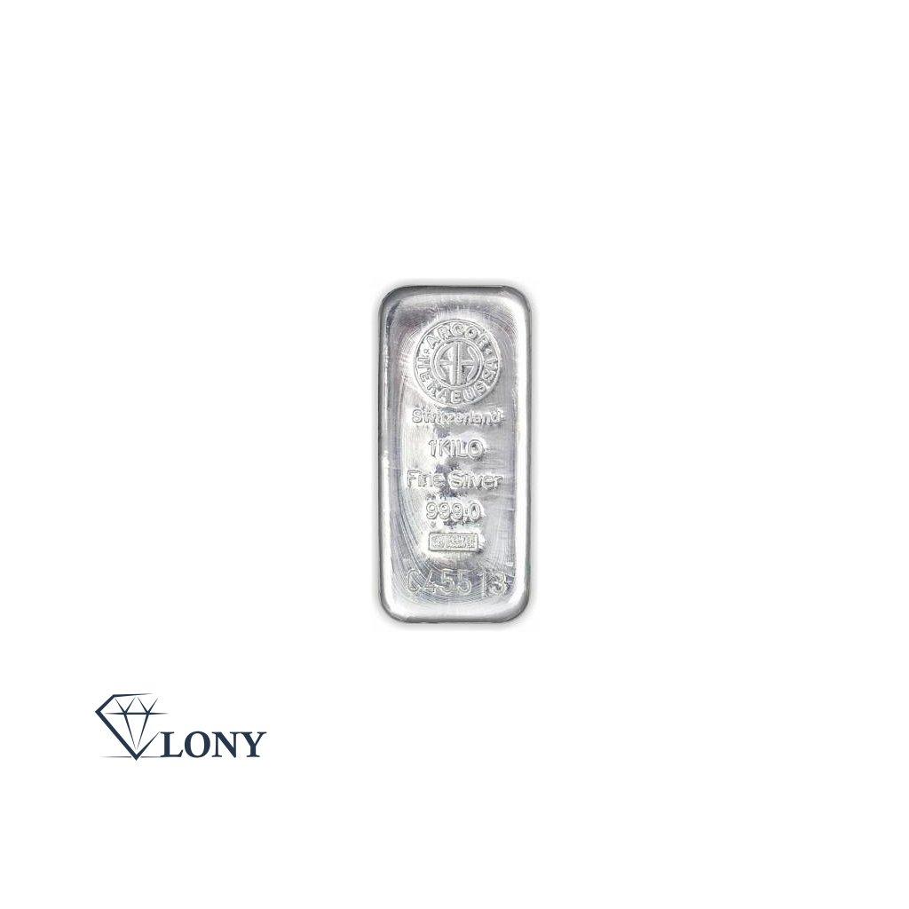 Stříbrný slitek 1000 gramů