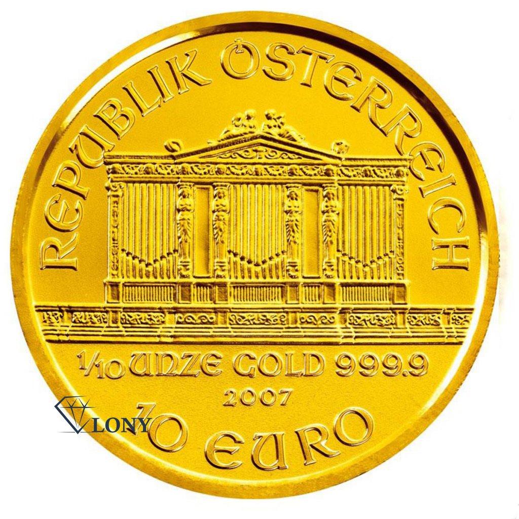568 1 10 oz wiener philharmoniker gold bullion zlato mince