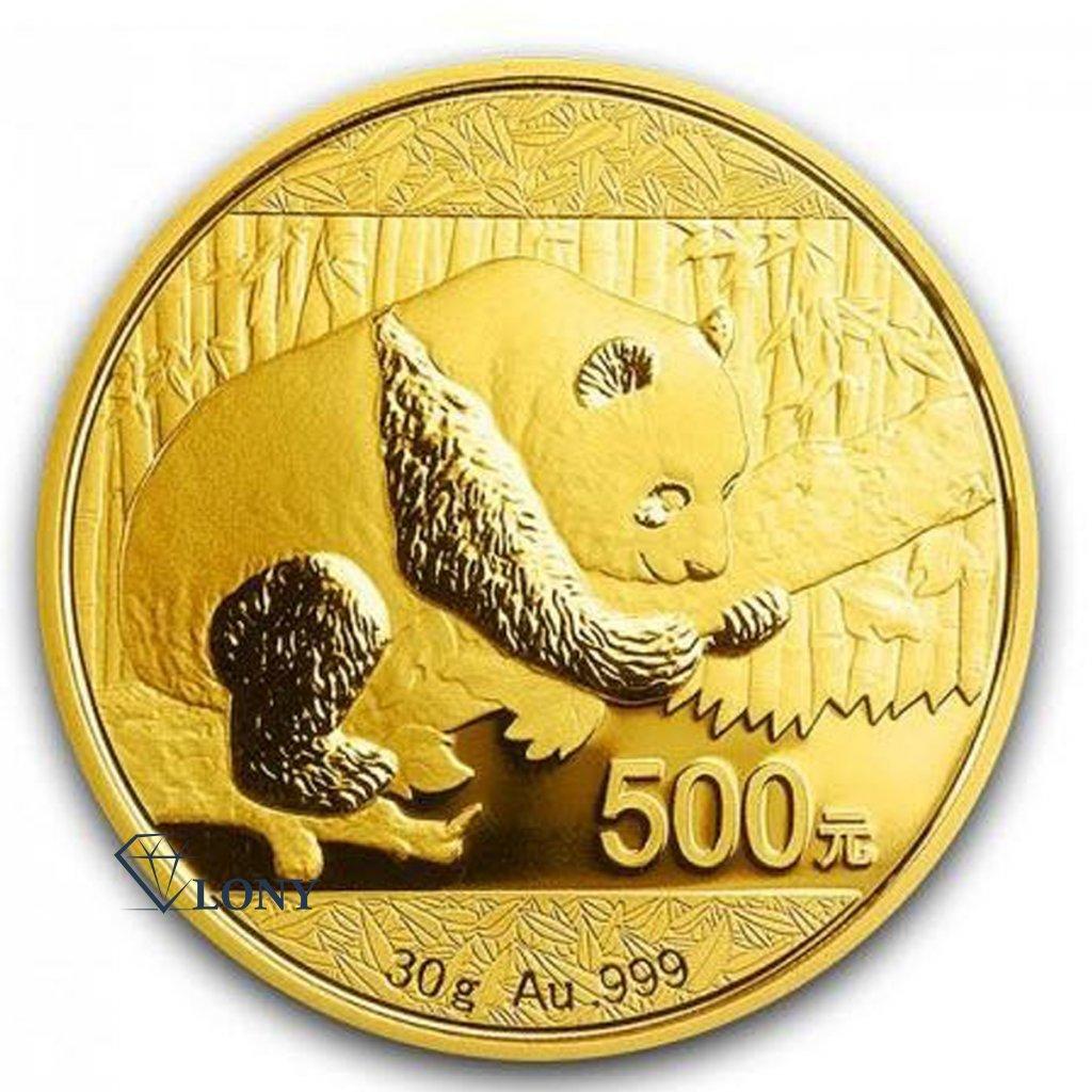 Zlatá investiční mince China Panda 30g