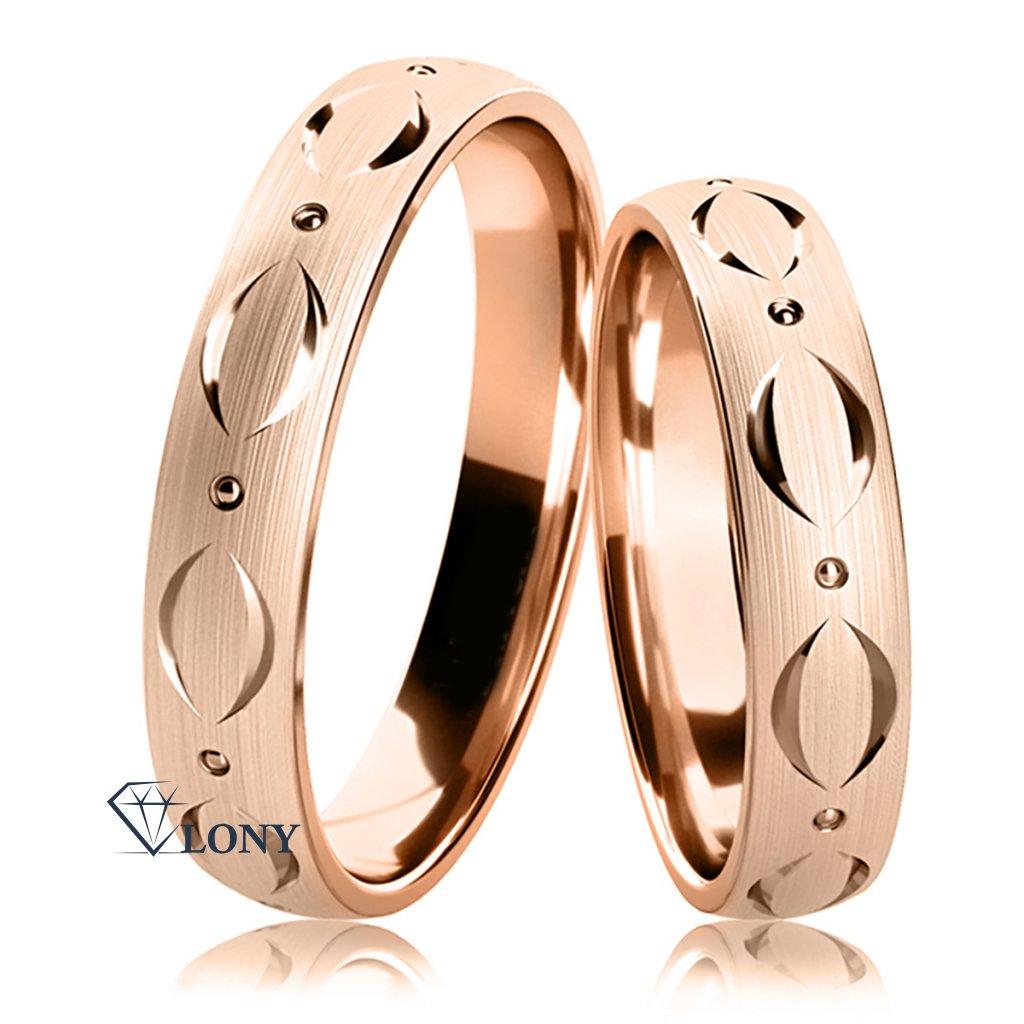 Snubní prsteny Adamaris z růžového zlata
