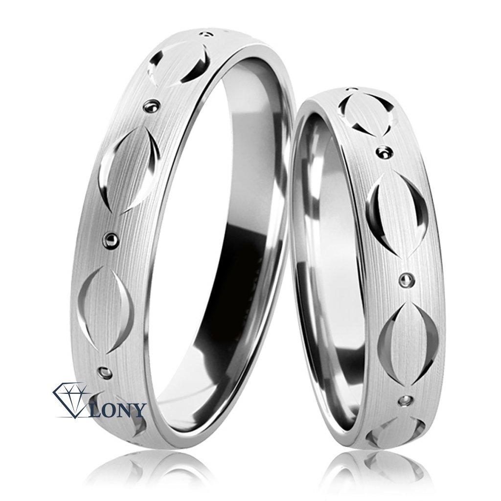 Stříbrné snubní prsteny Adamaris