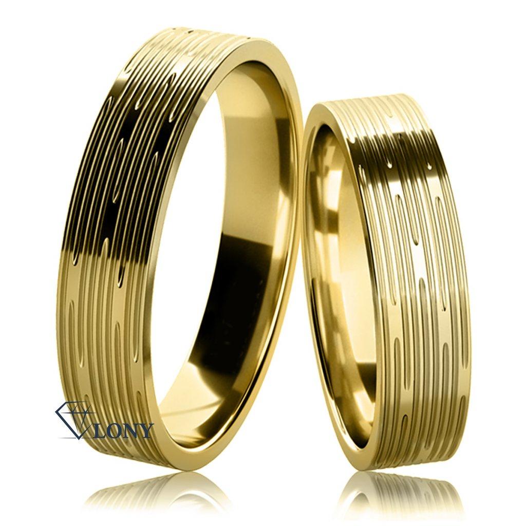 Snubní prsteny Damina ze žlutého zlata