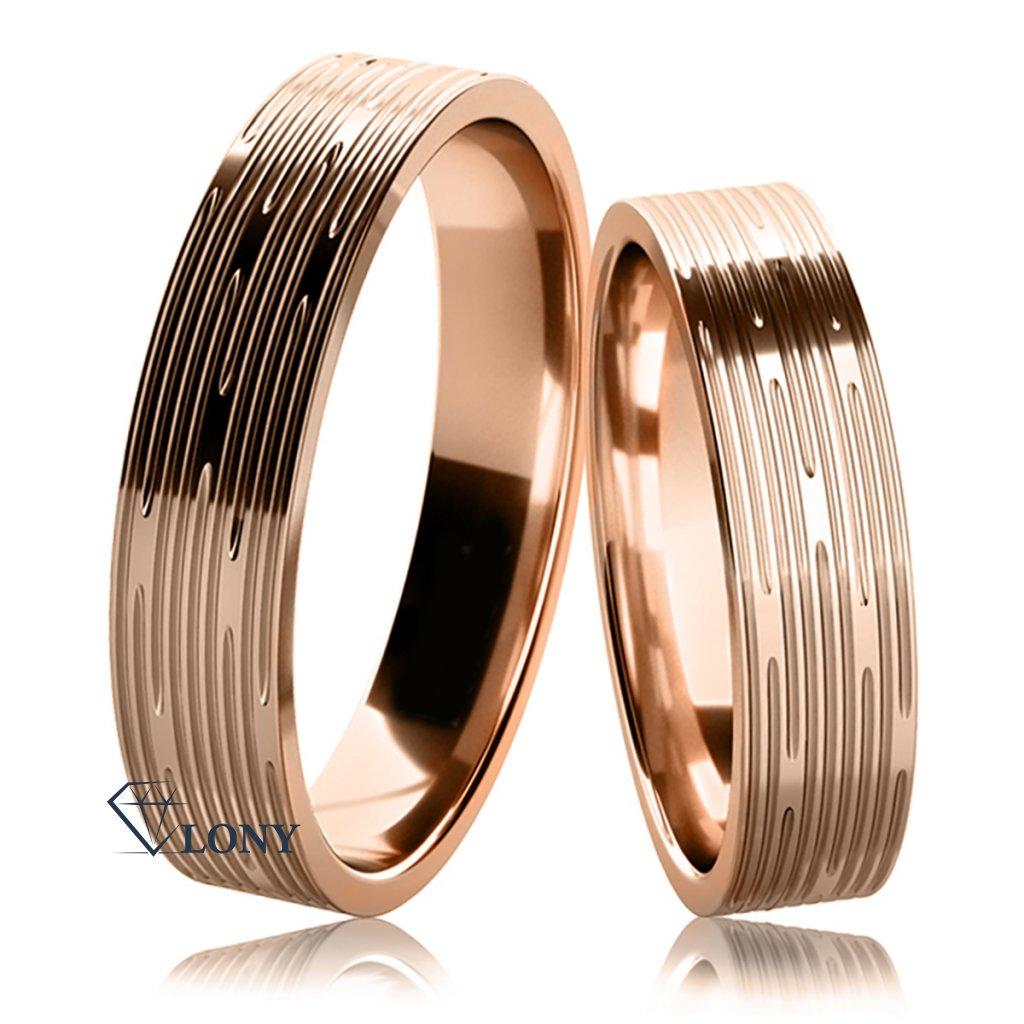 Snubní prsteny Damina z růžového zlata