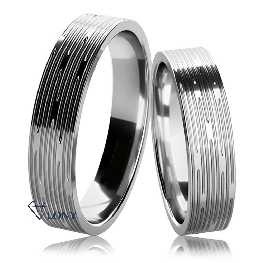 Stříbrné snubní prsteny Damina