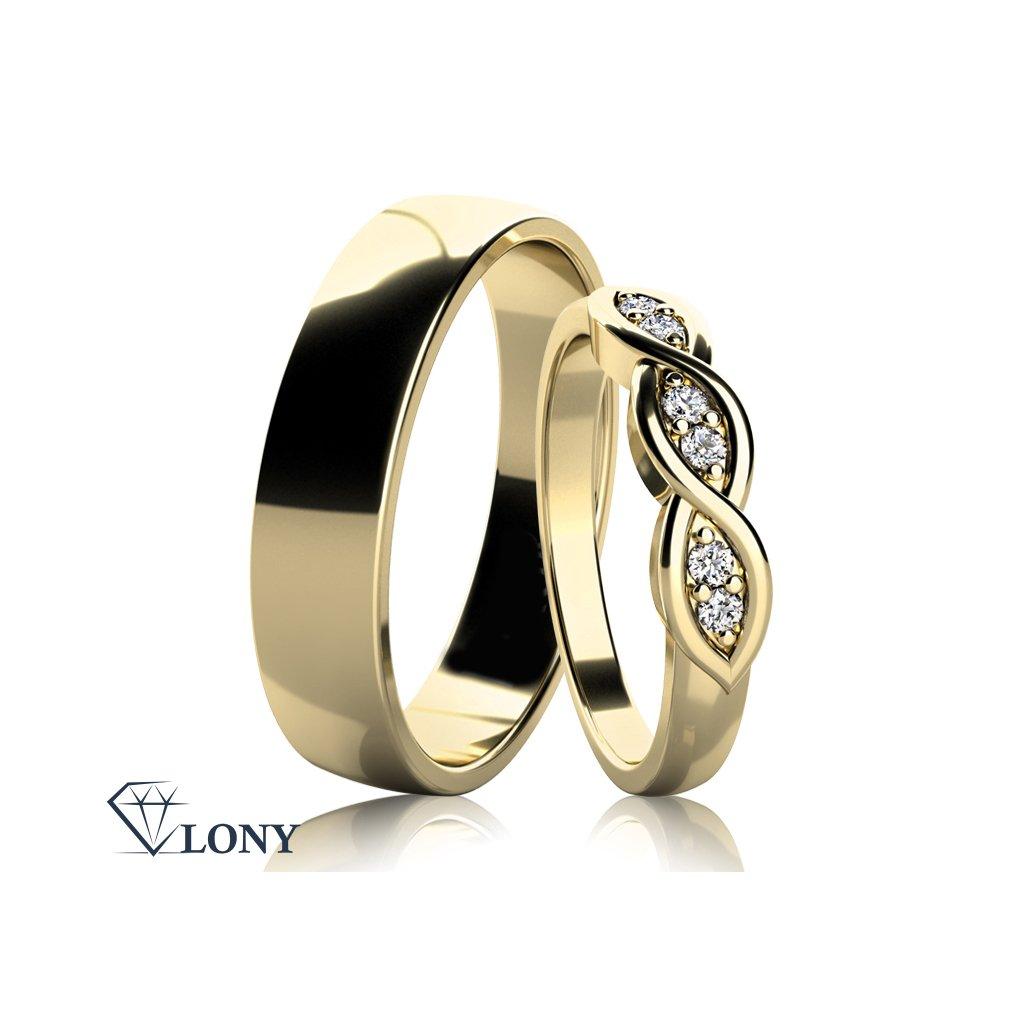 Snubní prsteny Carha, bílé zlato s diamanty