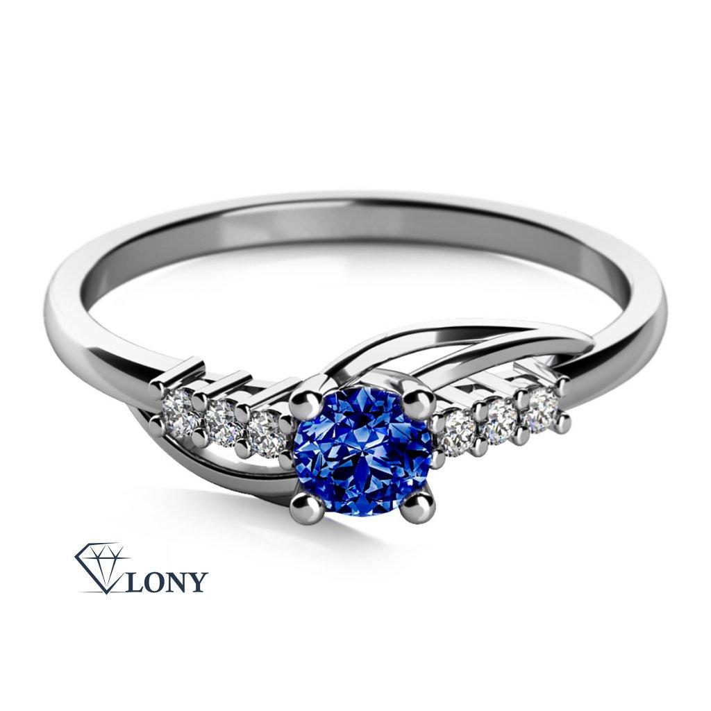 Adéla, prsten z bílého zlata se zirkony