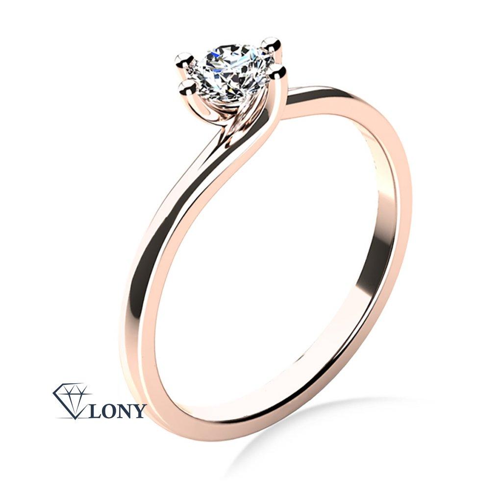 Patric – zásnubní prsten z růžového zlata