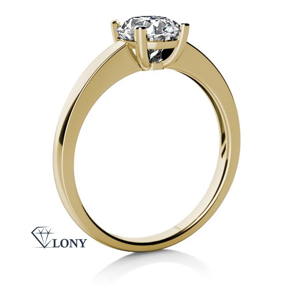 Zásnubní prsten Lydia ze žlutého zlata se zirkonem