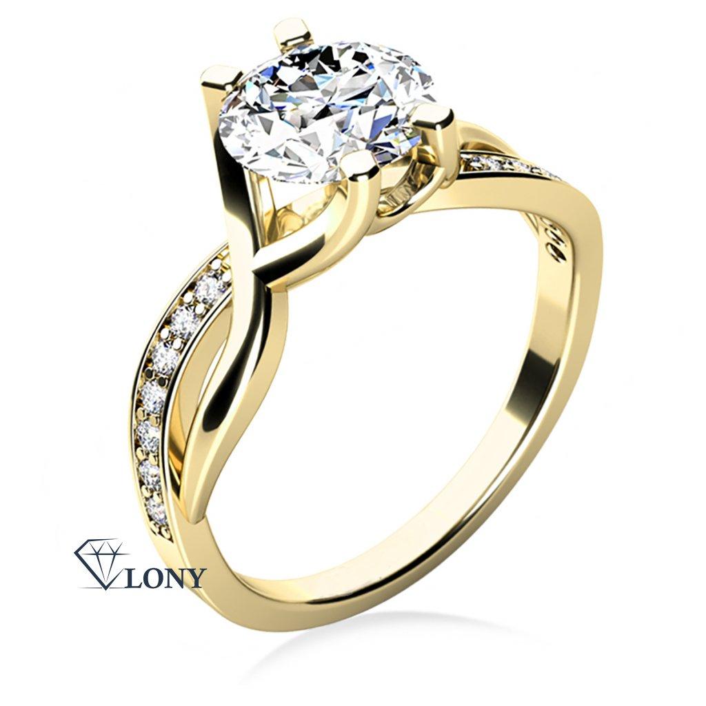Maui – zásnubní prsten ze žlutého zlata